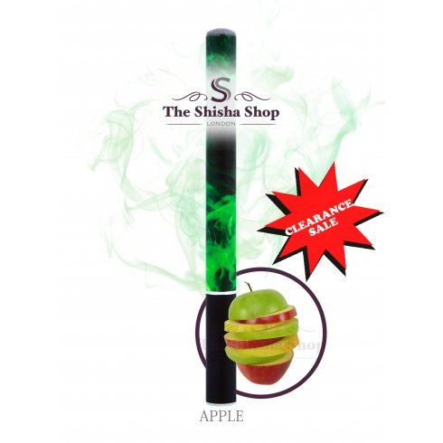 Mini Shisha Clearance Offer - Apple Flavour Disposable Shisha Pen (500 Puffs)