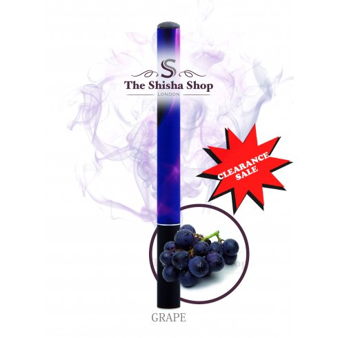 Mini Shisha Clearance Offer - Grape Flavour Disposable Shisha Pen (500 Puffs)