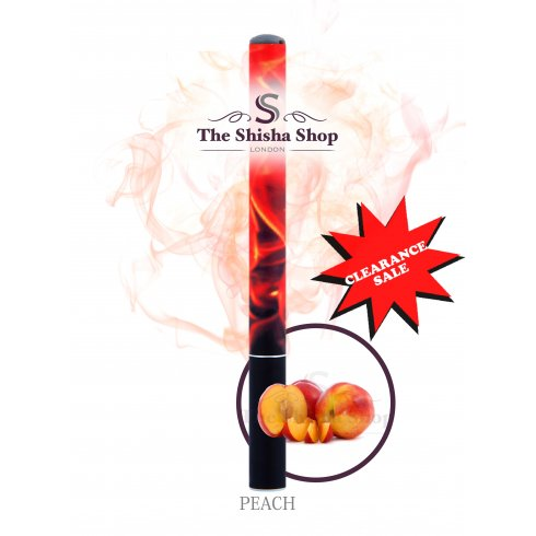 Mini Shisha Clearance Offer - Peach Flavour Disposable Shisha Pen (500 Puffs)