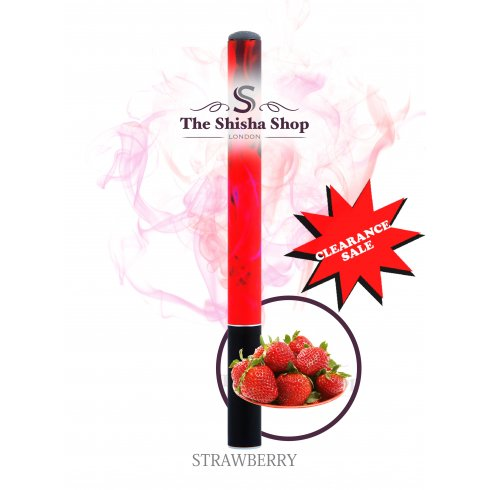Mini Shisha Clearance Offer - Strawberry Flavour Disposable Shisha Pen (500 Puffs)