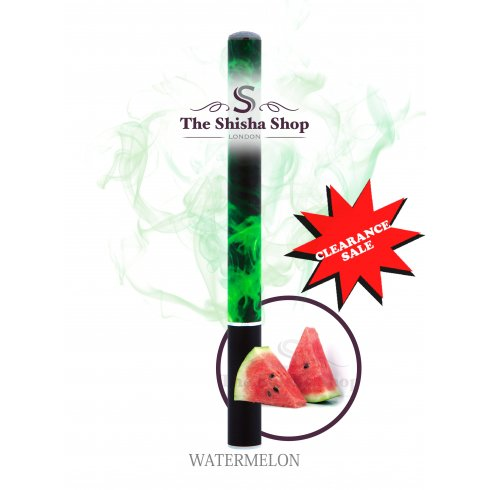 Mini Shisha Clearance Offer - Watermelon Flavour Disposable Shisha Pen (500 Puffs)